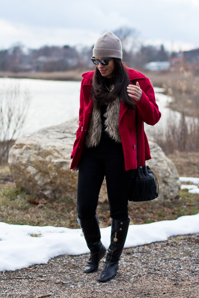 black sweater, fur vest, red coat, fringe bag-1.jpg