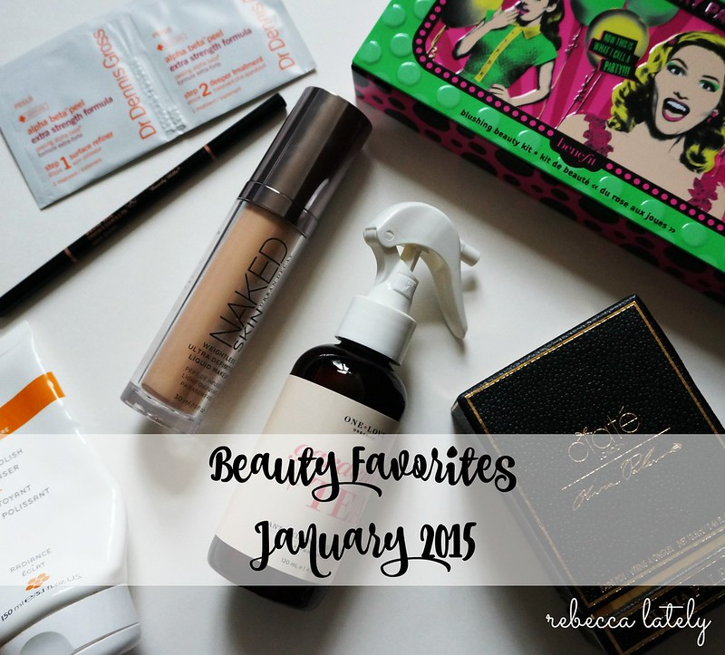 Rebecca Lately January Beauty Favorites 2