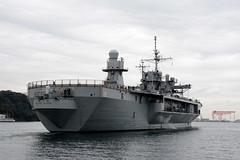 USS Blue Ridge (LCC 19) departs Yokosuka, Japan, on Monday. (U.S. Navy/MC2 Peter Burghart)