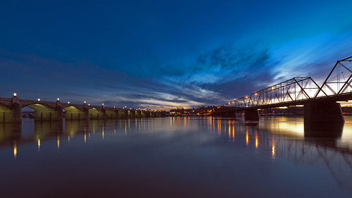 bridge sunset sky water river bridges marketstreet harrisburg susquehanna autofocus walnutstreet