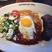 Tri Tip and Enchilada Wood roasted Snake River Farms tri tip, Butternut squash and cheddar enchilada, with cucumber salad (sunny side egg optional)