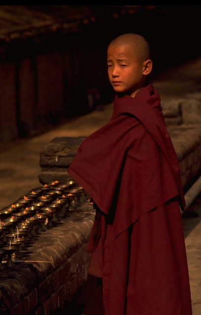 Boy Buddhist in Bodh Gaya