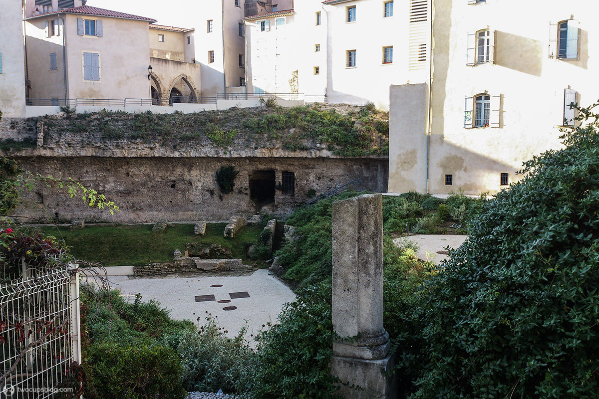 Ruins of the Roman Arena in Béziers