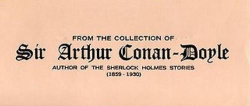 Arthur Conan Doyle MTB coin cover inside