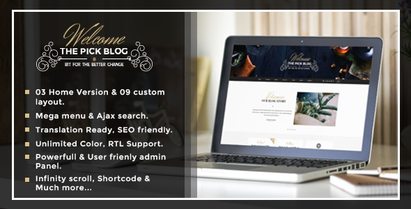 Themeforest Pick v1.0 - A Responsive WordPress Blog Theme