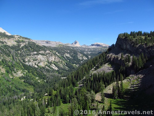 Alaska Basin from the shelf near the top of the Stairway to Heaven, Jedediah Smith Wilderness and Grand Teton National Park, Wyoming