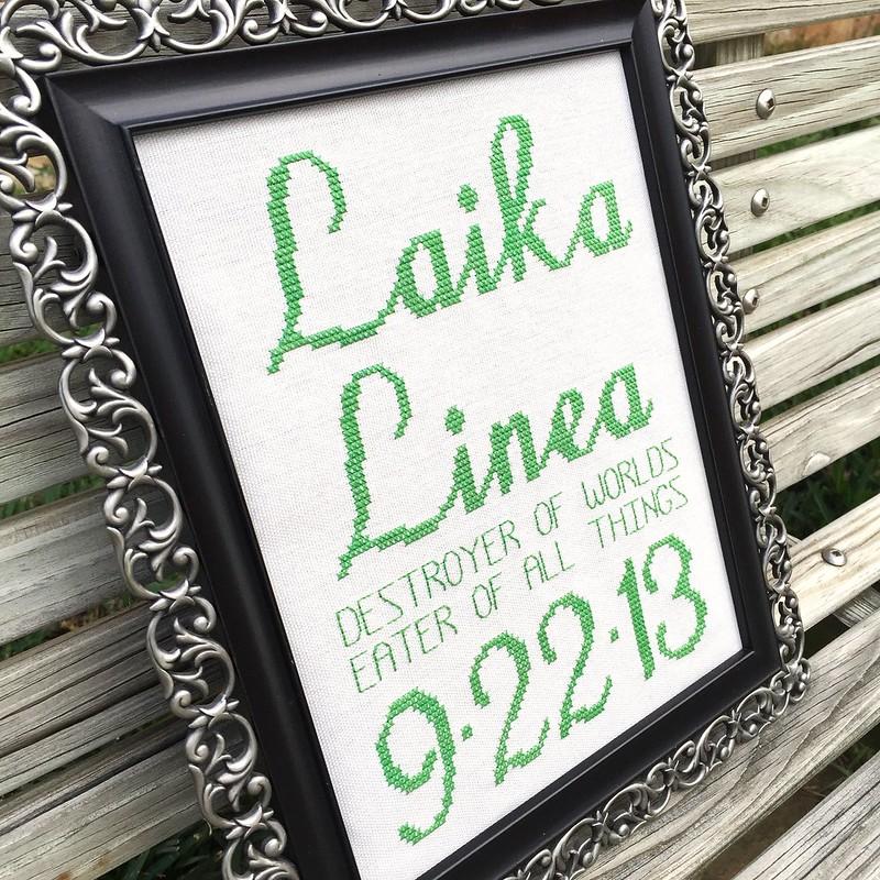 Laika's Birth Announcement