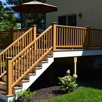 DuraLife Railways Railing in Golden Oak