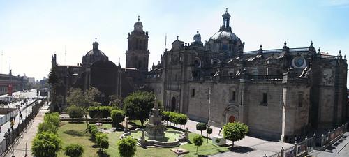 Mexico City: vue du restaurant sur la Cathédrale