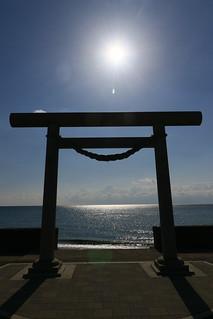 佐女川神社の鳥居, 木古内