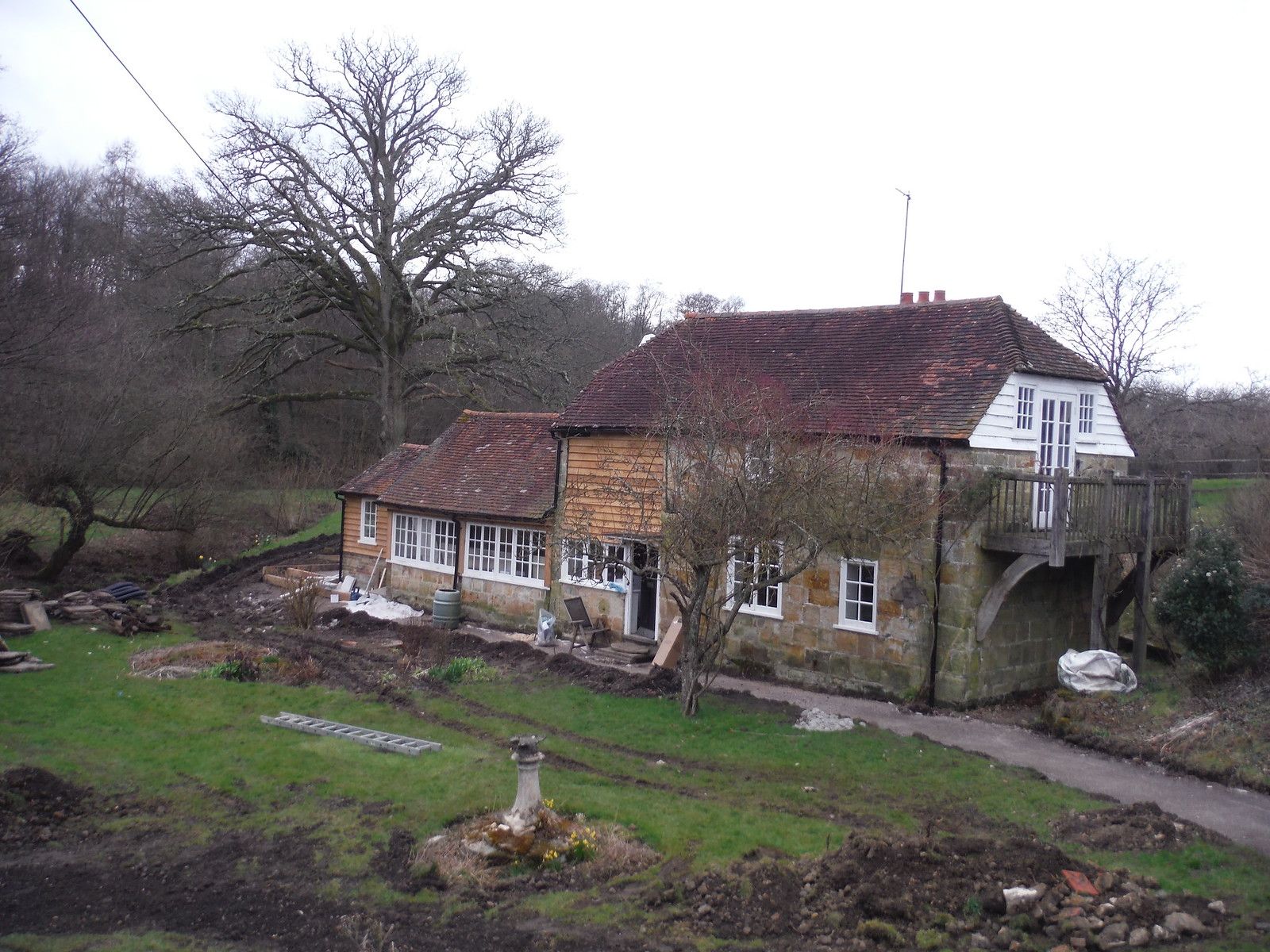 House on Tickerage Stream SWC Walk 262 Uckfield to Buxted