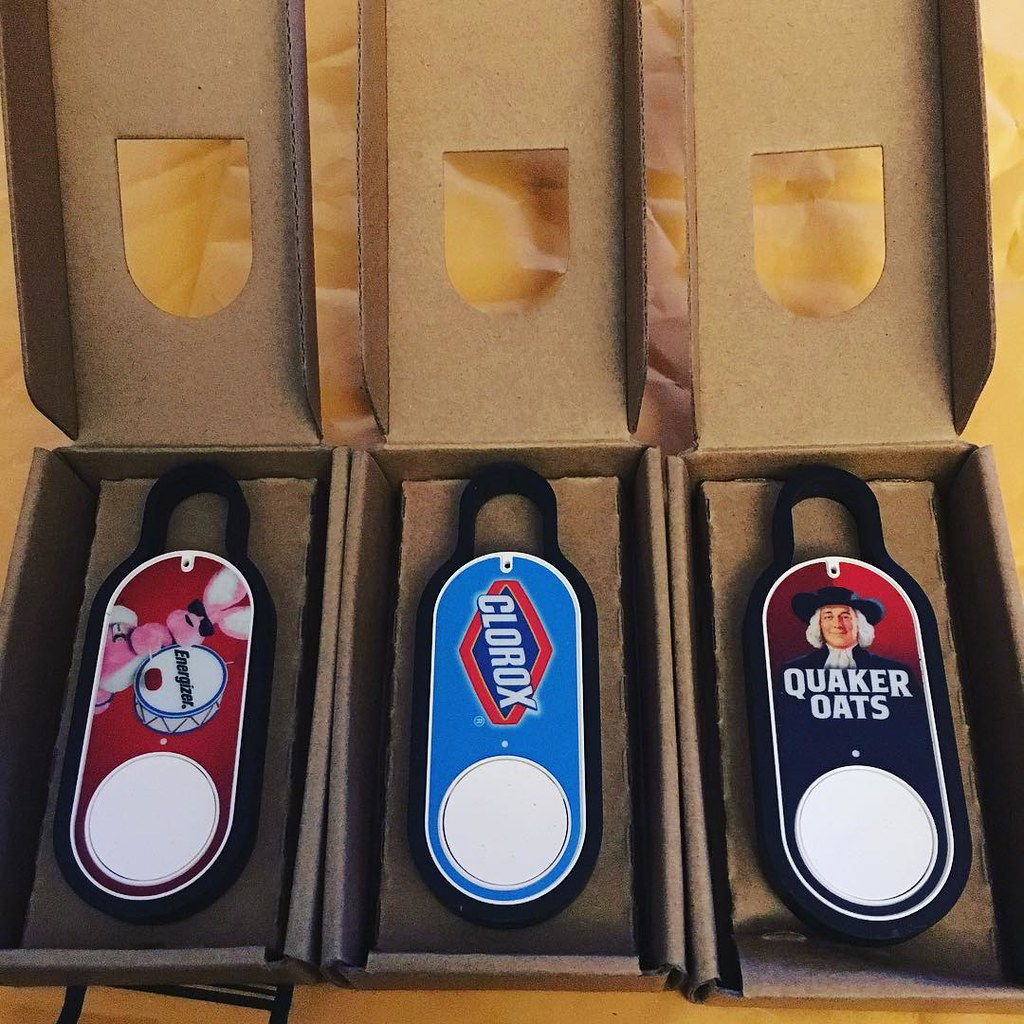 New #Amazon #Dash buttons are in. I love these things.