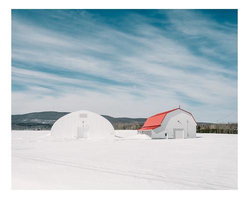 winter snow canada barn rural landscape farm