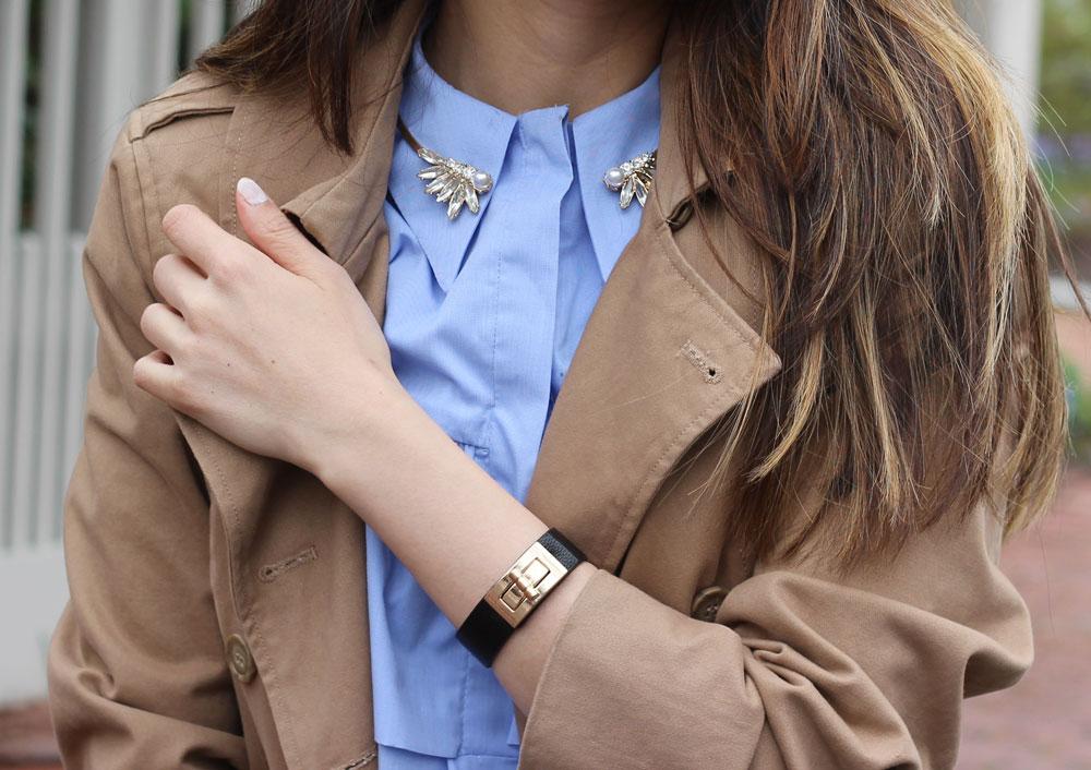 Twist lock bracelet and open choker