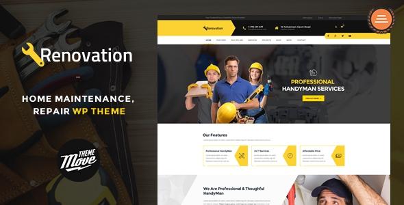 Renovation v1.3.8 - Home Maintenance, Repair Service Theme