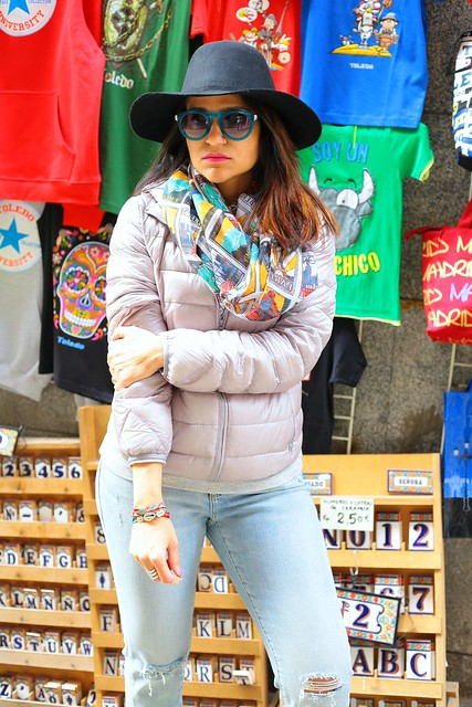 Jacket - Uniqlo Jeans - Gap Shoes - Nike Scarf - Lou Lou Boutique Hat - Aldo  Bracelet - Ipanema Watch - Marc By Marc Jacobs  Outfit Toledo Spain Tanvii.com