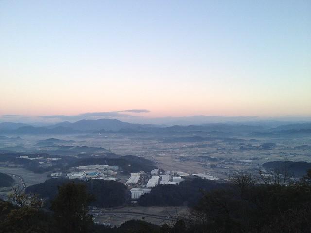 明王山 見晴台からの眺望 関市方面