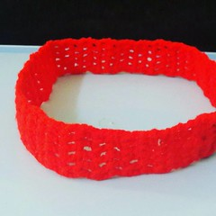 Simple red color head band #design customized upon #order #qatar only