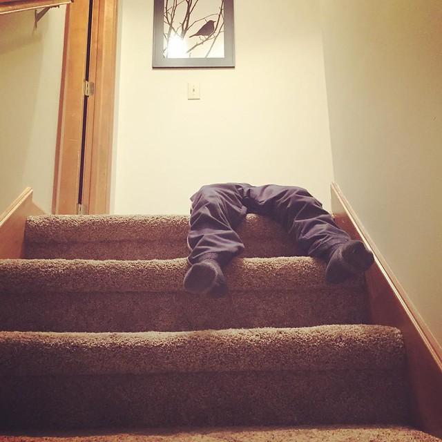 Eli versus the stairs