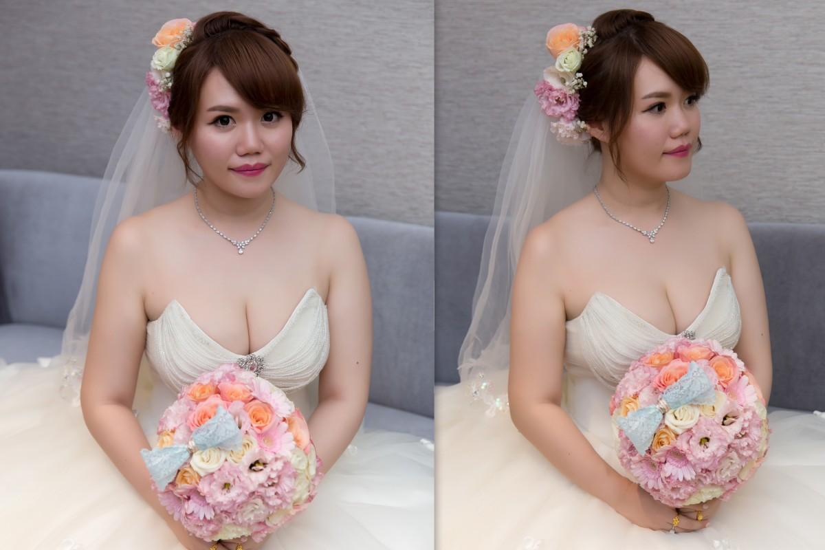 新秘Yuki│新秘推薦│白紗│盤髮│鮮花造型│新娘頭紗