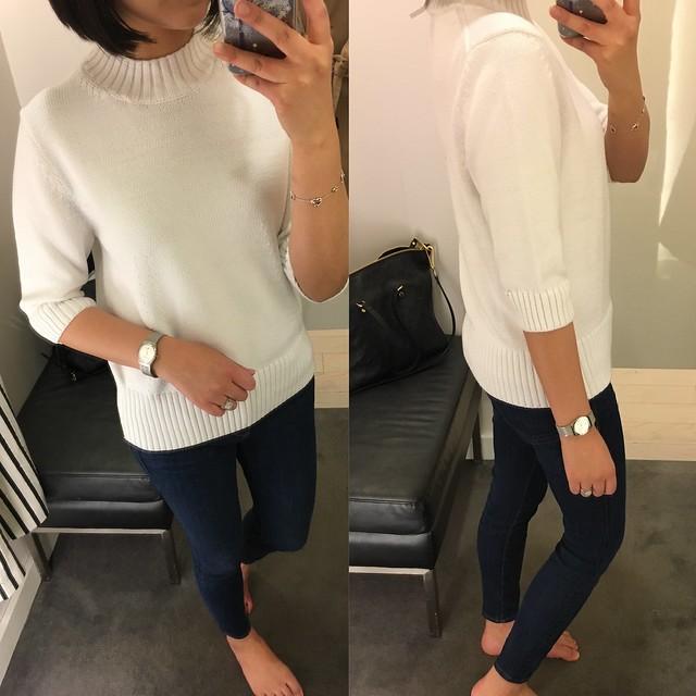 Ann Taylor Mock Neck Sweater, size L regular