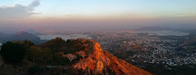 Udaipur panorama from Monsoon Palace