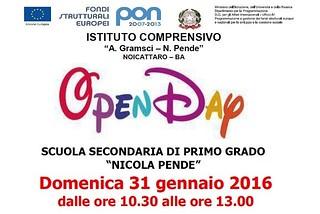 Noicattaro. Open Day Pende front
