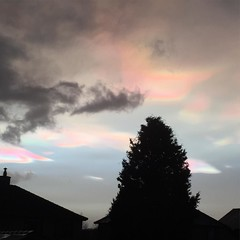 Rainbow clouds!