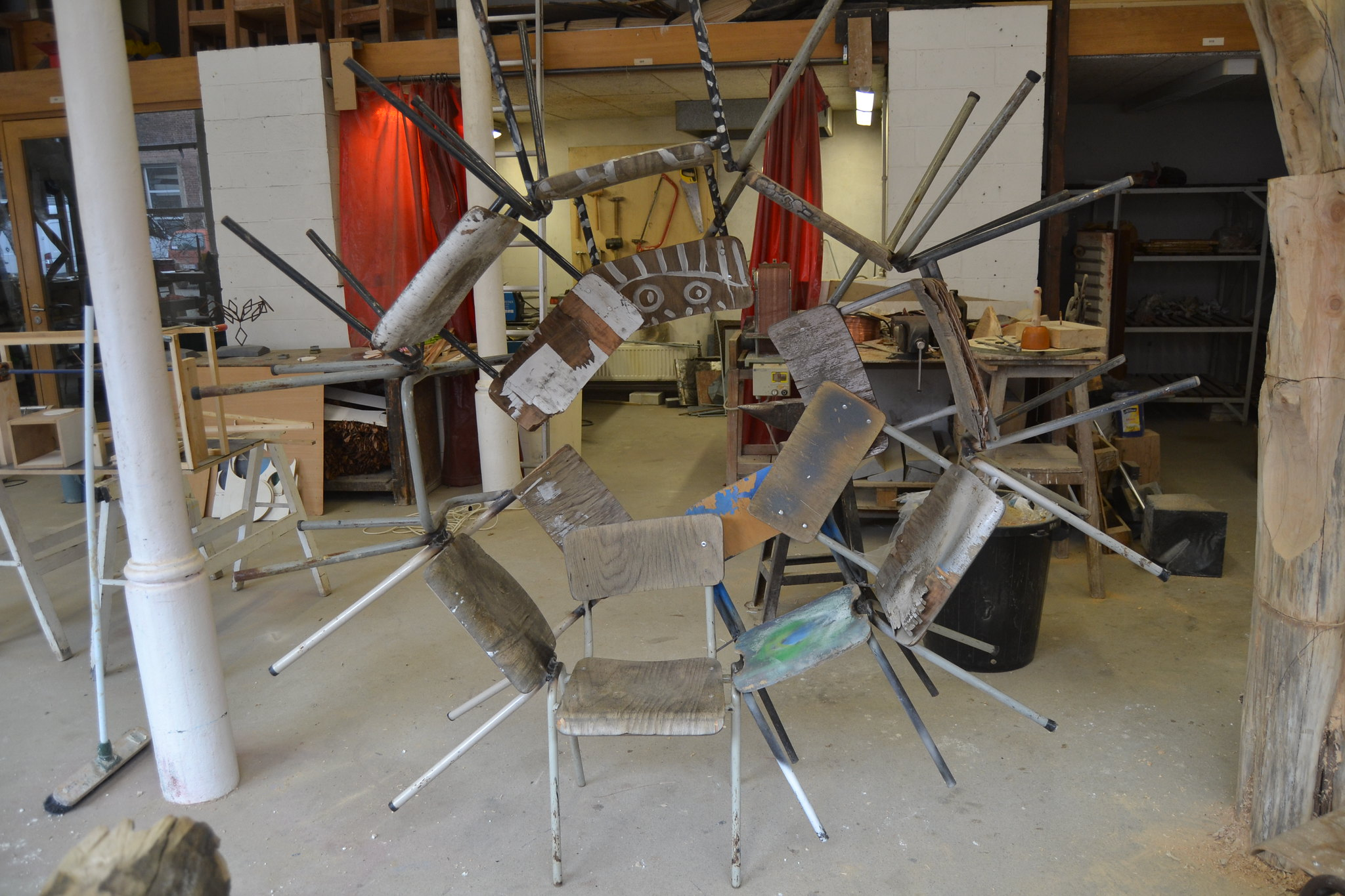 silla trono circular rueda