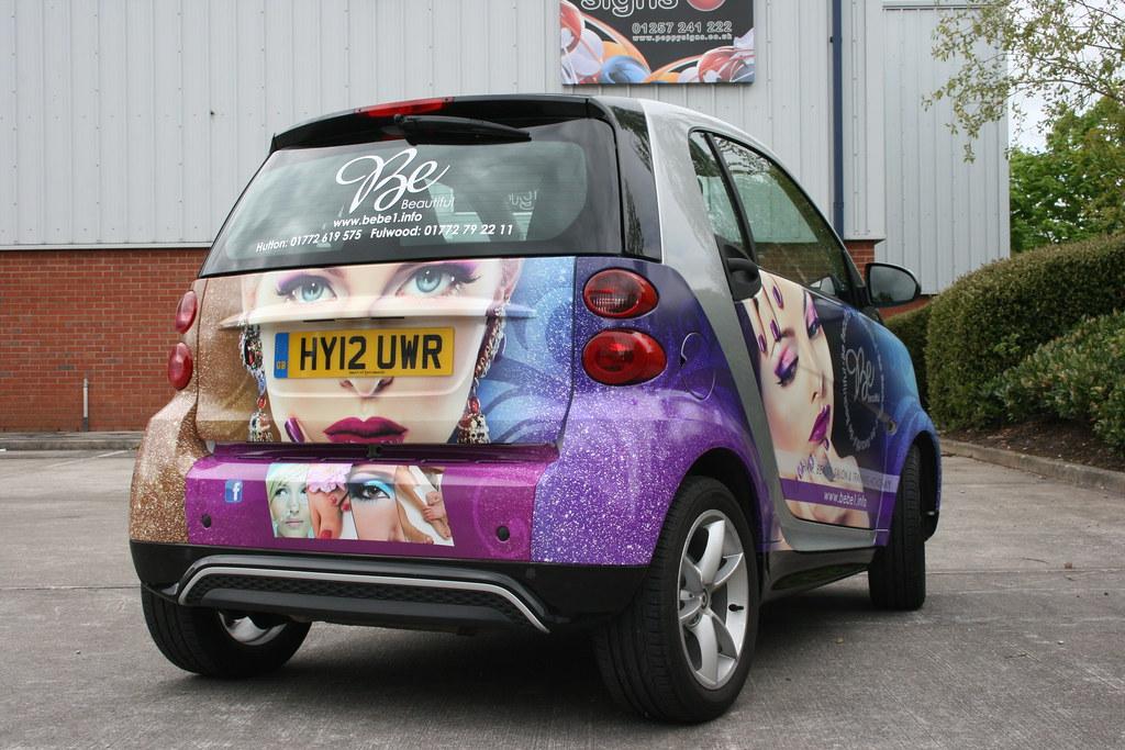 Full vehicle wrap, digitally printed graphics