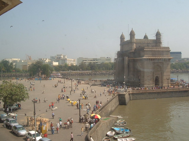 The gateway to India, as seen from our hotel room