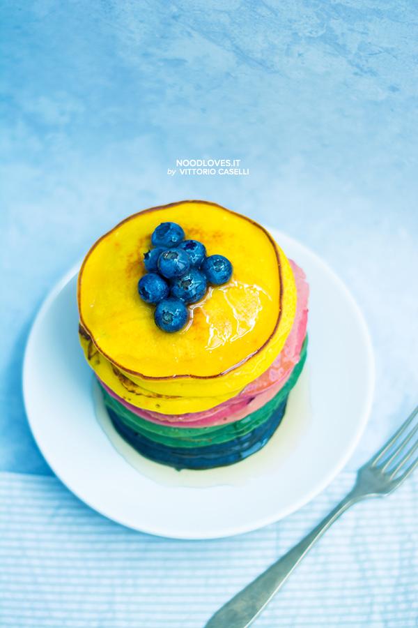 Pancakes alla ricotta multicolor