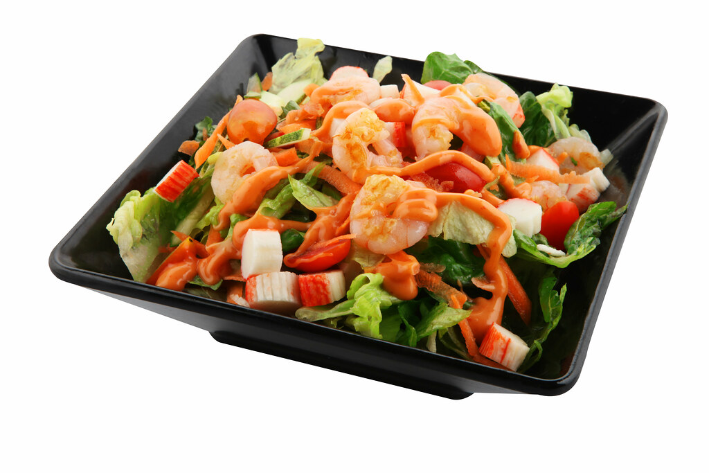 Healthy Food in Singapore: Simply Wrapps Seafood Salad