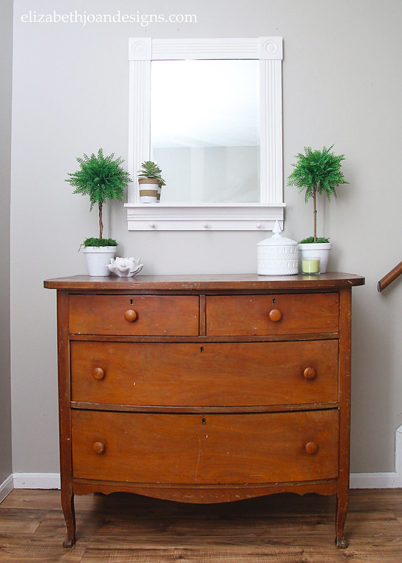 Entryway Dresser Storage Mirror