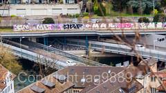 A2 Motorway Bridges over the Reuss River, Lucerne, Switzerland