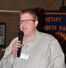 Jason Potts presented the story of his life to the club members.