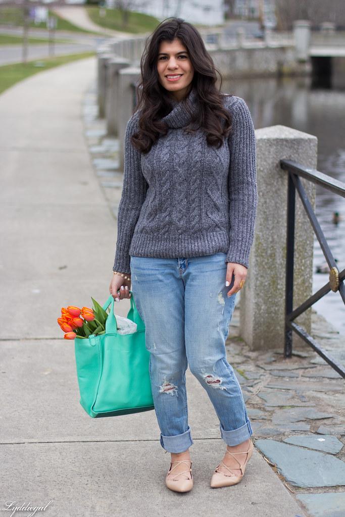 grey sweater, boyfriend jeans, laceup flats-2.jpg
