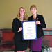Rep. Tami Zawistowski, right, with Holly Corcoran. Corcoran is being awarded Girl Scouts' Gold Award. She lives in East Granby and is a senior at Suffield HS in the Agriscience program