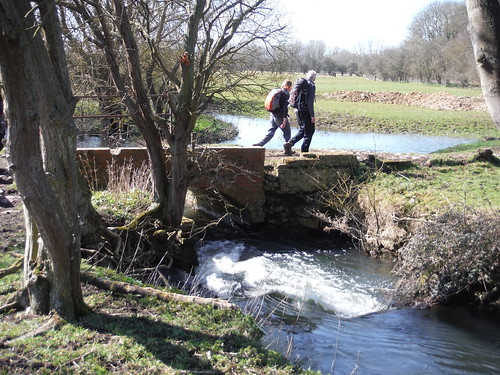 Crossing the River Thame (old mill site near Notley Abbey)