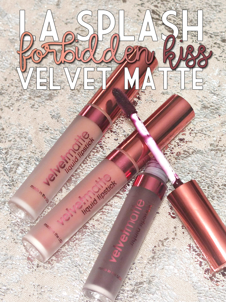 La Splash Forbidden Kiss Velvet Matte Liquid Lipsticks (2)