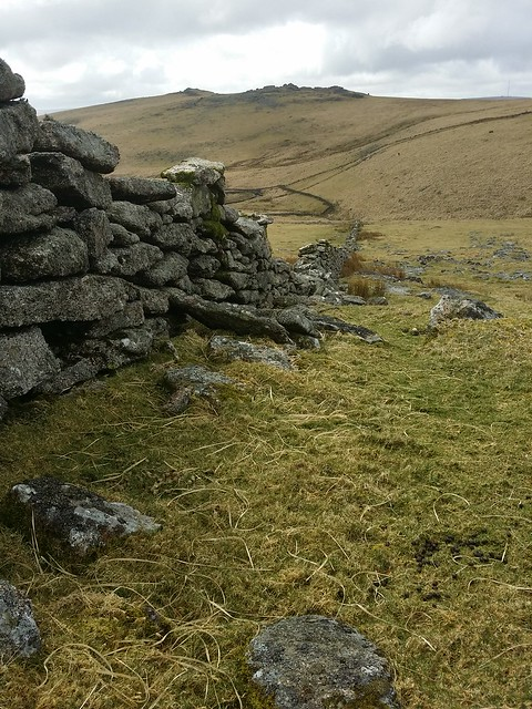 Wall near Little Crow Tor
