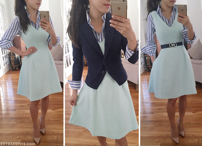 styling a dress button up shirt blazer work outfit