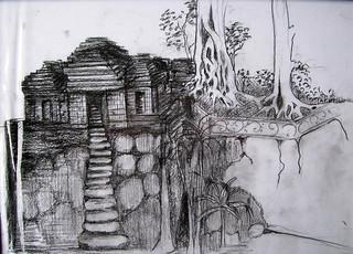 I Made Suwisma, Situs Gua Garba, 21 x 29 cm, Pencil on Paper, 2016