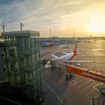 Into the sun - Düsseldorf Airport