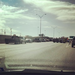 You know you're in San Antonio when there's traffic & sirens =T