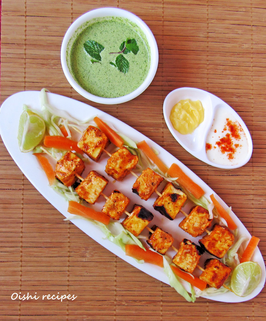 Paneer tikka at home 3