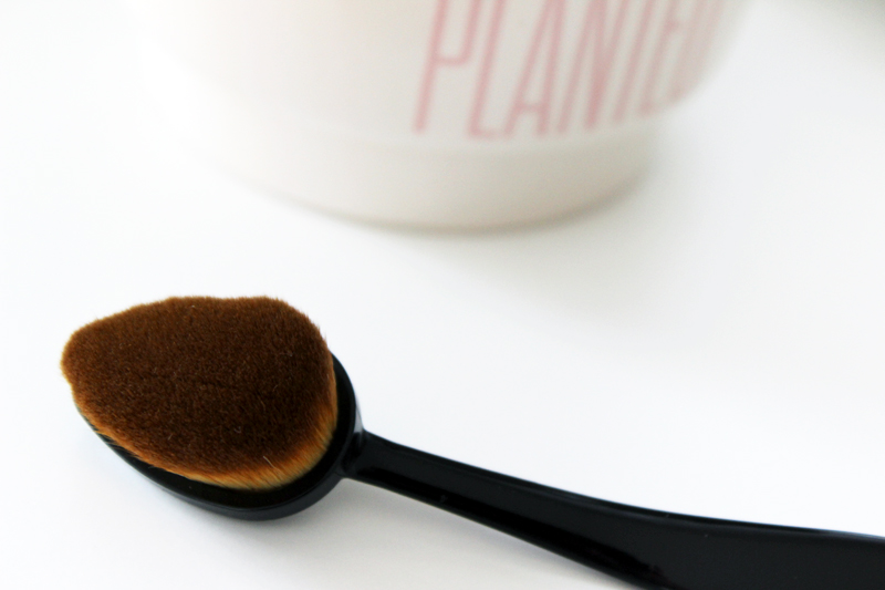 Korean Beauty Missha Oval Foundation Brush Closeup