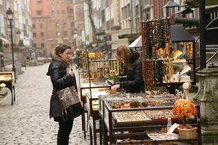 Amber stalls on Piwna Street