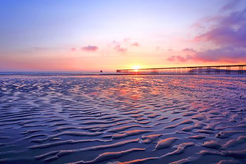 uk sea sun man beach water sunrise pier sand hiking maritime handheld lowtide isle isleofman manx couchsurfing 1635mm queenspier colorsinourworld canoneos5dmarkiii 1635mmf4
