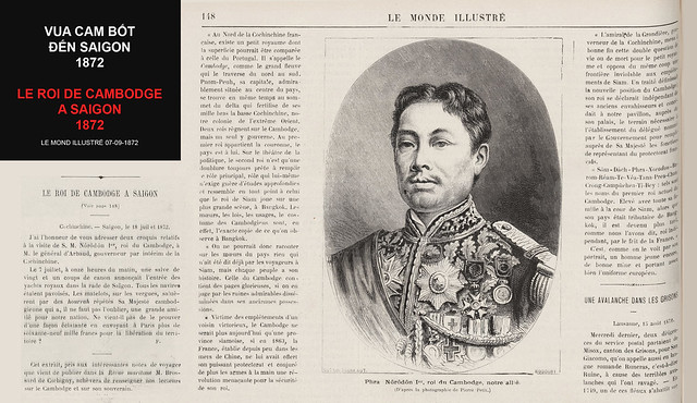LE ROI DE CAMBODGE A SAIGON - Vua Cam Bốt đến Saigon ngày 07/07/1872